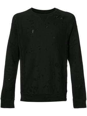 Distressed sweatshirt The Soloist. Цвет: чёрный