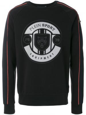 Толстовка с логотипом Plein Sport. Цвет: чёрный