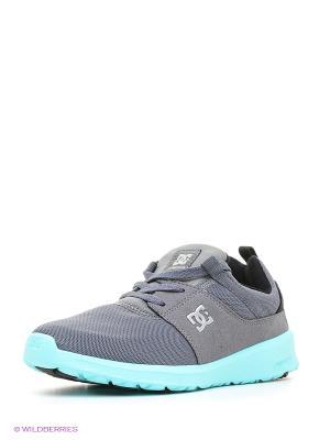 Кроссовки DC Shoes. Цвет: серый, бирюзовый