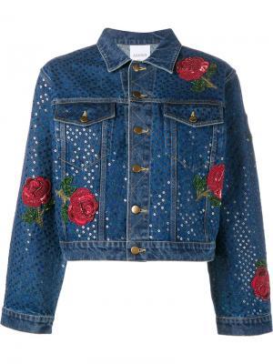 Джинсовая куртка с пайектами Ashish. Цвет: синий