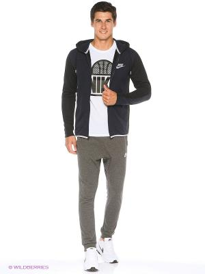 Толстовка M NSW AV15 HOODIE FZ FLC Nike. Цвет: темно-синий, черный