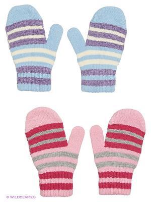 Варежки FOMAS. Цвет: розовый, голубой, сиреневый, малиновый