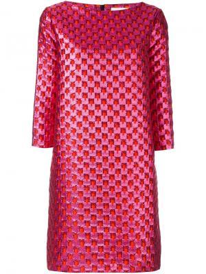 Платье с узором Gianluca Capannolo. Цвет: розовый и фиолетовый