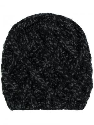 Трикотажная шапка Antonia Zander. Цвет: чёрный