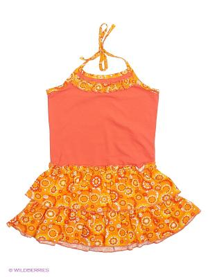 Сарафан Три ползунка. Цвет: оранжевый