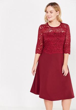Платье Dream World. Цвет: бордовый