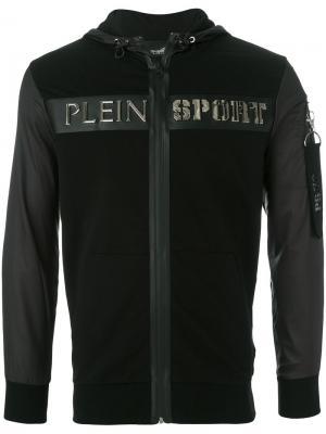 Толстовка с капюшоном и логотипом Kevin Plein Sport. Цвет: чёрный