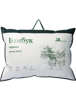 Подушка Бамбук ИвШвейСтандарт. Цвет: белый, зеленый, сливовый
