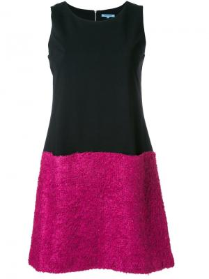 Платье мини дизайна колор-блок Guild Prime. Цвет: чёрный
