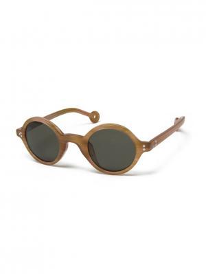 Солнцезащитные очки HS 502 01 HALLY & SON. Цвет: зеленый, коричневый