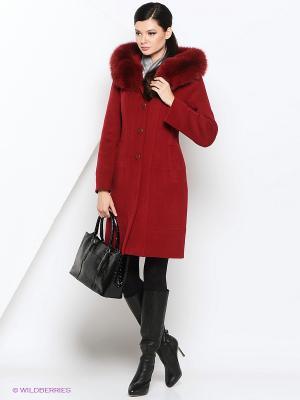 Пальто Electrastyle. Цвет: темно-бордовый, темно-красный