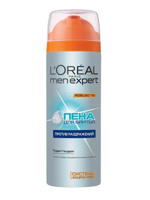 Пена для бритья Men Expert L'Oreal Paris. Цвет: серебристый