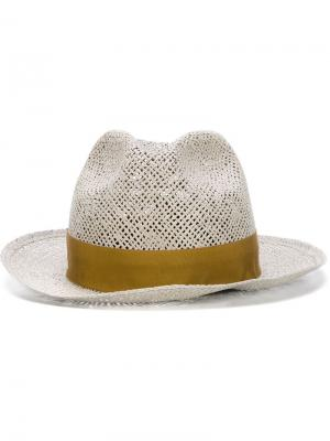 Шляпа с контрастной лентой Super Duper Hats. Цвет: серый
