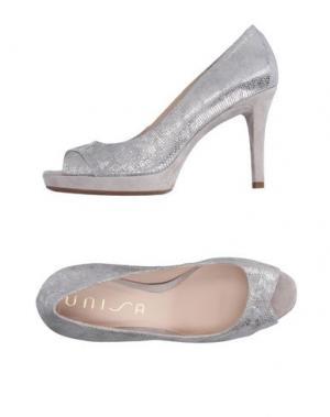 Туфли UNISA. Цвет: серебристый