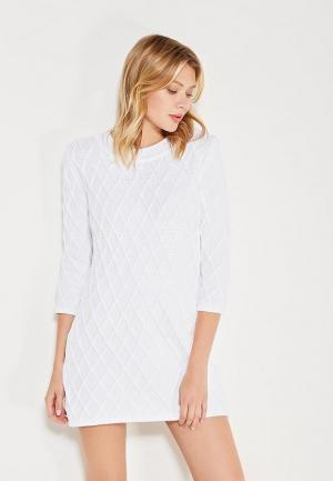 Платье Brusnika. Цвет: белый