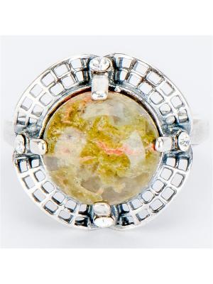 Кольцо Тереза унакит Колечки. Цвет: зеленый