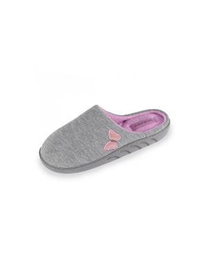 Тапочки Isotoner. Цвет: серый,розовый