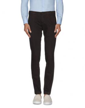 Повседневные брюки ENTRE AMIS. Цвет: темно-коричневый