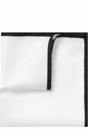 Шелковый платок с контрастным кантом Dolce & Gabbana. Цвет: белый