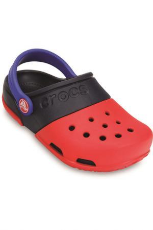 Сабо Crocs. Цвет: красный, синий
