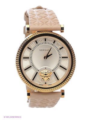 Часы Versace. Цвет: золотистый, бежевый, белый