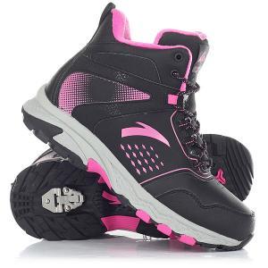 Ботинки зимние детские Anta W32746911-1 Black. Цвет: черный,серый,розовый