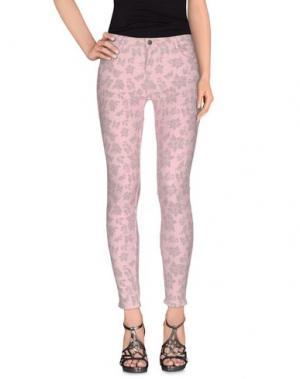 Джинсовые брюки BLEULAB. Цвет: розовый