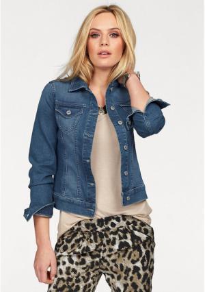 Джинсовая куртка MELROSE. Цвет: синий потертый