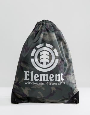 Element Спортивная сумка с камуфляжным принтом Buddy. Цвет: черный