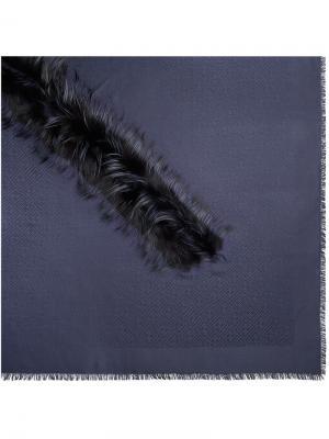 Шаль Touch of Fur Fendi. Цвет: синий