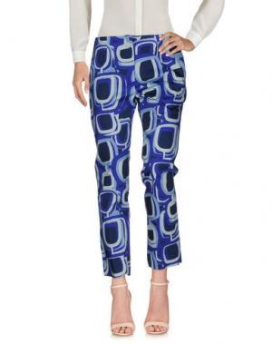 Повседневные брюки EYS. Цвет: темно-фиолетовый
