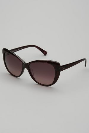 Очки солнцезащитные Valentino. Цвет: бордовый