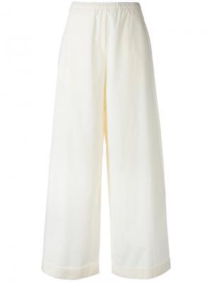 Укороченные широкие брюки Humanoid. Цвет: белый
