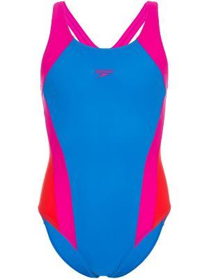 Слитный купальник Speedo. Цвет: голубой, красный, розовый