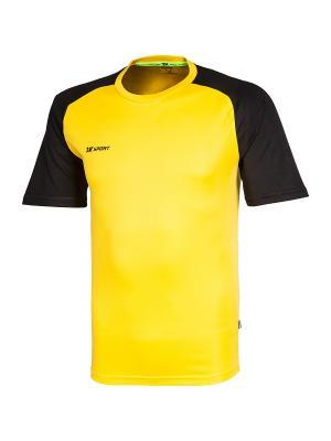 Футболка тренировочная Performance 2K. Цвет: черный, желтый