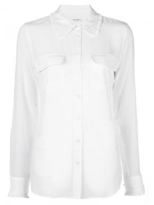 Рубашка с нагрудными карманами Equipment. Цвет: белый
