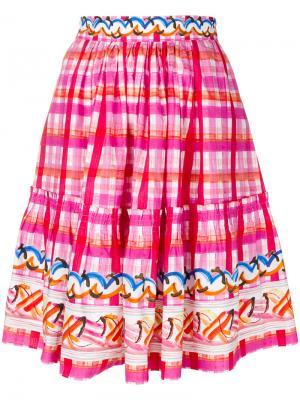 Клетчатая пышная юбка Peter Pilotto. Цвет: многоцветный