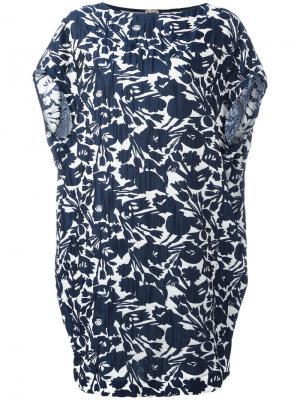 Платье с цветочным узором IM Isola Marras I'M. Цвет: синий