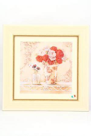 ПостерЧайные розы в вазе F.A.L. Цвет: мультицвет