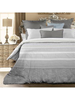 Комплект постельно белья 2,0 биоматин  Luciano Унисон. Цвет: серый, белый
