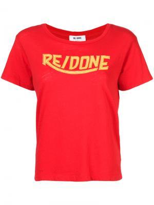 Футболка с логотипом Re/Done. Цвет: красный