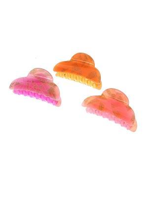 Заколка - краб (3 шт.) Migura. Цвет: желтый, розовый, сиреневый