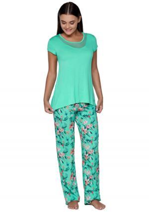 Комплект: блузка + брюки Infinity Lingerie. Цвет: с рисунком (набивка)