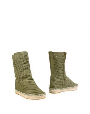 Полусапоги и высокие ботинки ESPADRILLES. Цвет: зеленый-милитари