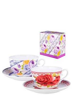 Набор для чая Эдем Miolla. Цвет: белый, сиреневый, красный