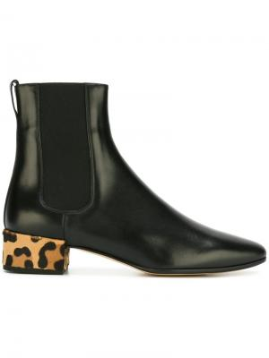 Animal print heel boots Francesco Russo. Цвет: чёрный