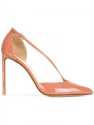 Туфли с заостренным носком Francesco Russo. Цвет: телесный