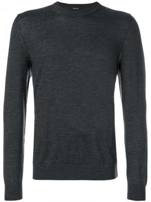Long sleeved T-shirt Z Zegna. Цвет: серый