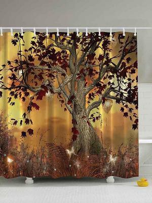 Фотоштора для ванной Magic Lady. Цвет: коричневый, оранжевый