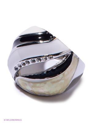 Кольцо Migura. Цвет: серебристый, белый, черный